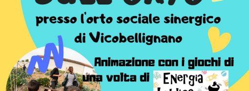Venerdì 7 giugno ore 16.30 merenda sull'Orto di Vicobellignano