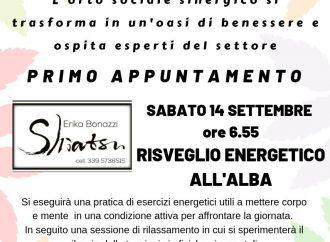 Risveglio energetico all'alba presso L'orto sociale sinergico di Vicobellignano